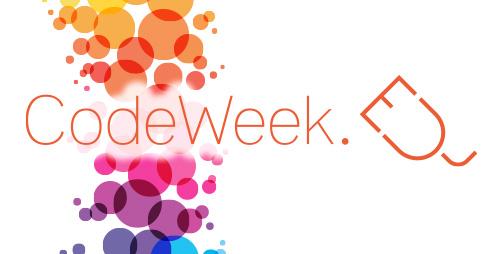 Logo della settimana europea della programmazione Eu Code Week 2018